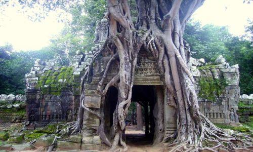 KAMBODżA / okolice Siem Reap / zespół Angkor Wat / spieszmy obejrzec,poki jeszcze jest