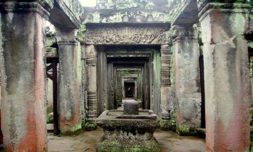 Zdjęcie KAMBODżA / okolice Siem Reap / zespół Angkor Wat / kolory patyny wiekow
