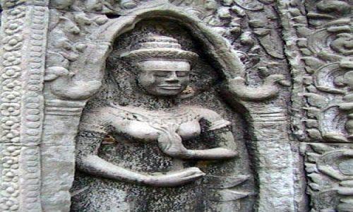 Zdjęcie KAMBODżA / brak / Swiatynie Angkor / TaProhm - plaskorzezba