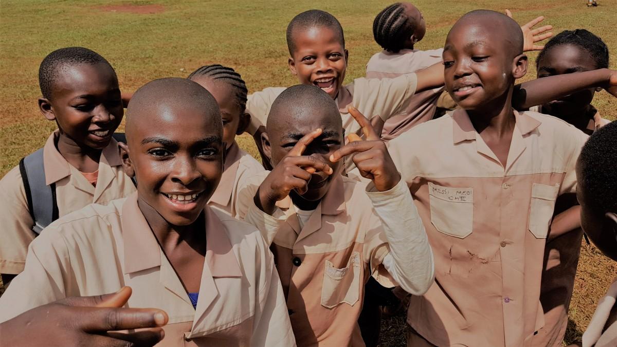 Zdjęcia: Abong-Mbang, Wizyta w szkole, KAMERUN