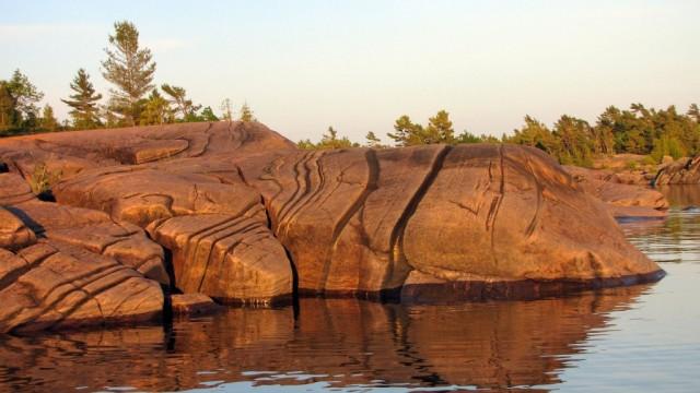 Zdjęcia: Wyspa Franklin Island, Ontario, Formacje skalne na zatoce Georgian Bay, KANADA
