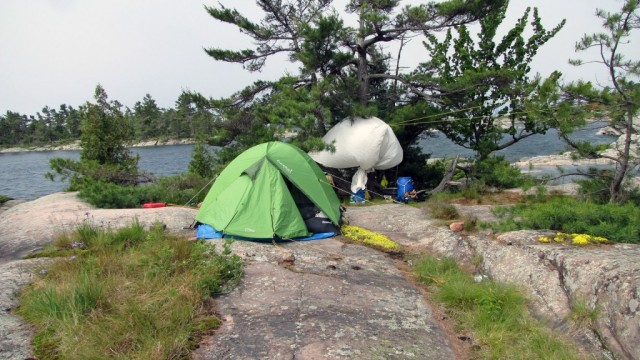Zdjęcia: Wyspa Franklin Island, Ontario, Nasz biwak na wyspie Franklin Island w Ontario, KANADA
