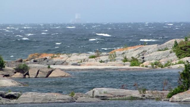 Zdjęcia: Wyspa Franklin Island, Ontario, Zatoka Georgian Bay-widok z naszego biwaku, KANADA