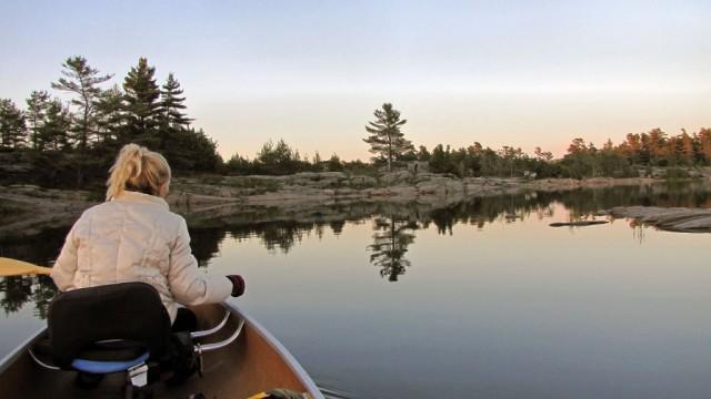 Zdjęcia: Wyspa Franklin Island na zatoce Georgian Bay, Ontario, Nasze miejsce biwakowe na wyspie Franklin Island, KANADA