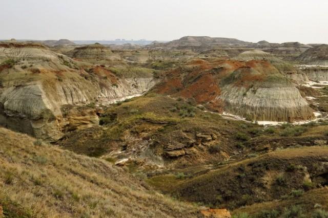 Zdjęcia: Prowincjonalny Park Dinozaurów, Alberta, Feria barw, KANADA