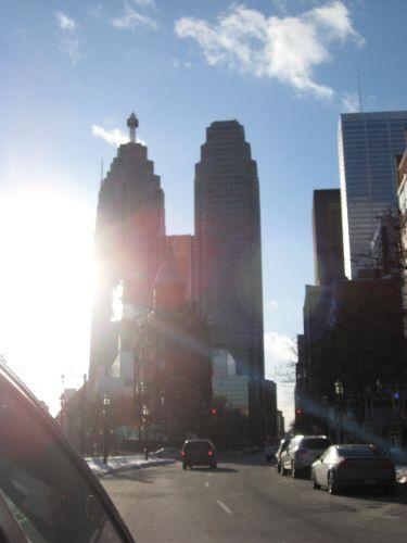 Zdjęcia: Toronto, Ontario, fotka centrum zrobiona z auta, KANADA
