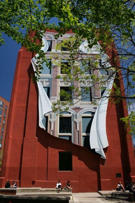Zdjęcia: Toronto - Berczy Park, Ontario, Gooderham Flatiron Building ściana tyłu budynku, KANADA