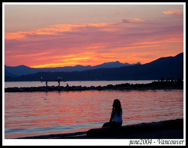 Zdjęcia: Vancouver, British Columbia, Zachod Slonca nad Pacyfikiem, KANADA
