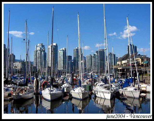 Zdj�cia: Vancouver, British Columbia, Spojrzenie na zatoke (2), KANADA