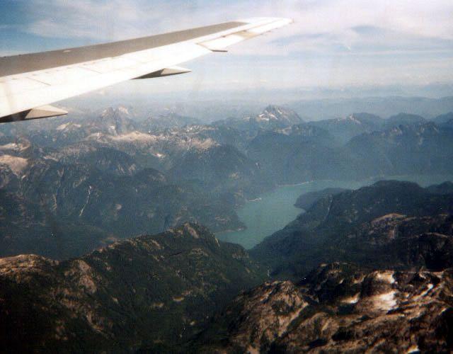 Zdjęcia: Okolice Vancouver, Widok z samolotu nad Vancouver, KANADA