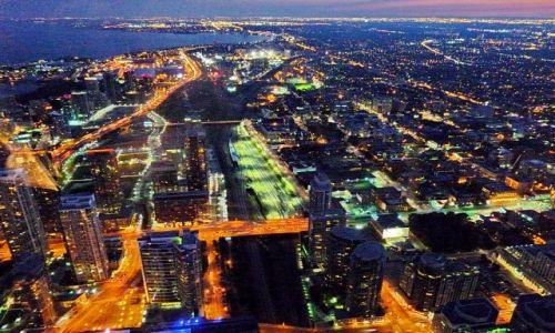 Zdjęcie KANADA / Ontario / Toronto / Śródmieście Toronto z wieży CN