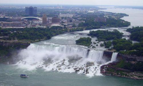 Zdjęcie KANADA / Ontario / Niagara Falls / panorama American Falls ze Skylon Tower
