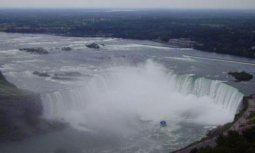 KANADA / Ontario / Niagara Falls / widok na Wodospad Podkowy ze Skylon Tower