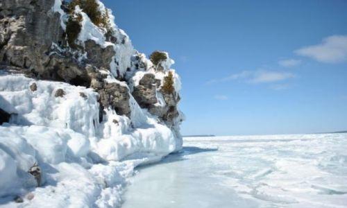Zdjecie KANADA / Ontario / Bruce Peninsula Park / zima na jeziorze