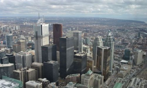 Zdjecie KANADA / Ontario / Toronto / widok Toronto z wieży TV