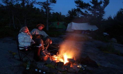 KANADA / Ontario / Wyspa Franklin Island / Biwakowanie na wyspie Franklin Island w Ontario