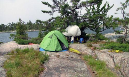 KANADA / Ontario / Wyspa Franklin Island / Nasz biwak na wyspie Franklin Island w Ontario