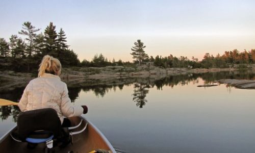 KANADA / Ontario / Wyspa Franklin Island na zatoce Georgian Bay / Nasze miejsce biwakowe na wyspie Franklin Island