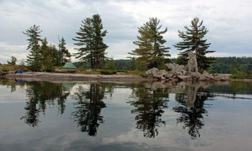 Zdjecie KANADA / Ontario / Park Matienda Provincial Park / Wyspa Monument Island, gdzie biwakowaliśmy