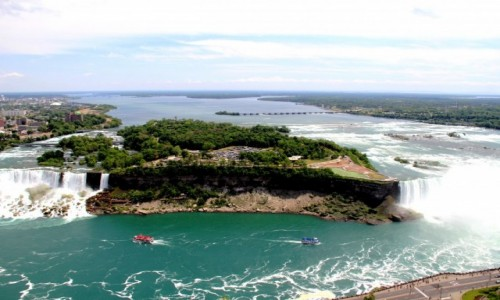 Zdjecie KANADA / Ontario / Niagara Falls / Niagara Falls widziana z wiezy Skylon