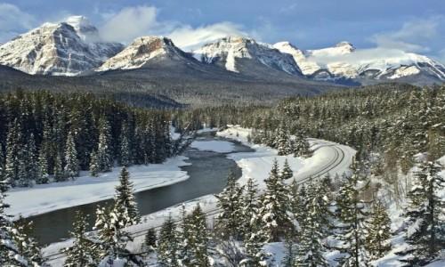 KANADA / Alberta / Banff NP / Kanadyjska zima