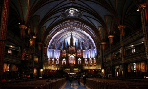 Zdjecie KANADA / Quebec / Montreal / Katedra Notre Dame