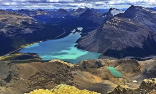 Zdjecie KANADA / Alberta / Banff NP / Jezioro Bow z Mt. Jimmy Simpson