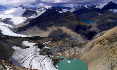 Zdjecie KANADA / Alberta / Banff NP / Widok z Mt. Jimmy Simpson na Wapta Icefield