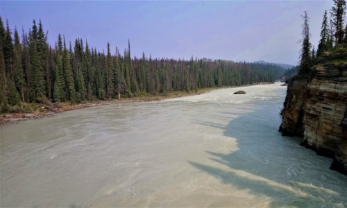 KANADA / Alberta / Jasper PN / rzeka Athabaska