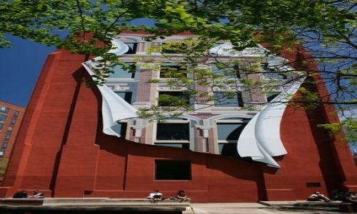 Zdjecie KANADA / Ontario / Toronto - Berczy Park / Gooderham Flatiron Building ściana tyłu budynku