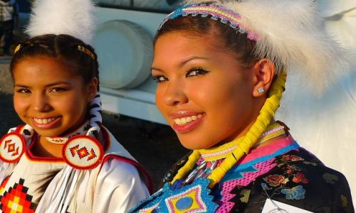 Zdjecie KANADA / Alberta / rezerwat tsutsina / indianie 8
