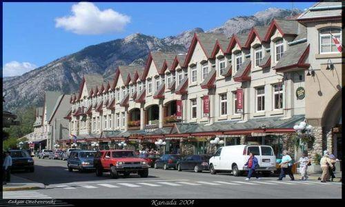 KANADA / Rocky Mountains / Miasteczko Banff / Banff city
