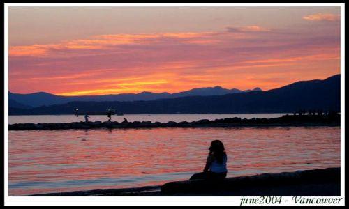 Zdjecie KANADA / British Columbia / Vancouver / Zachod Slonca nad Pacyfikiem