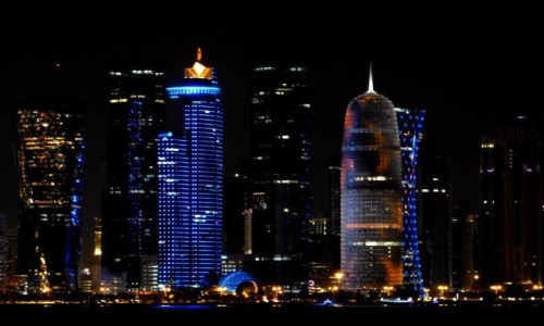 Zdjecie KATAR / Doha / Doha / Big city lights