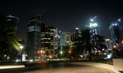 KATAR / Qatar / Doha / Doha, Corniche by night