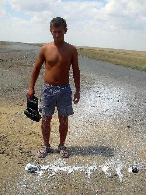 Zdjęcia: Makat, Pianka do golenia nie wytrzymala goraca, KAZACHSTAN