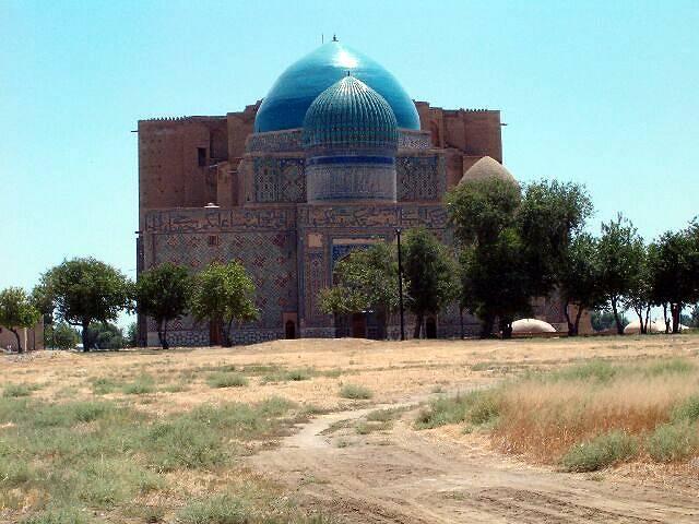 Zdj�cia: Turkistan, Jeden z dw�ch najwi�kszych meczet�w w Kazachstanie, KAZACHSTAN