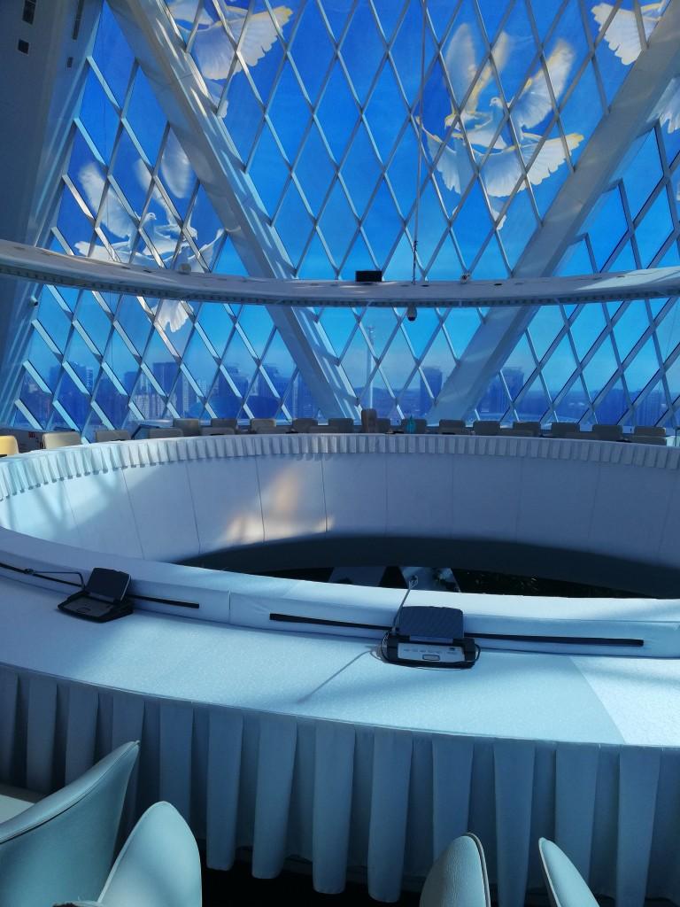 Zdjęcia: wnętrze piramidy, Astana, Kazachstan wiosną, KAZACHSTAN