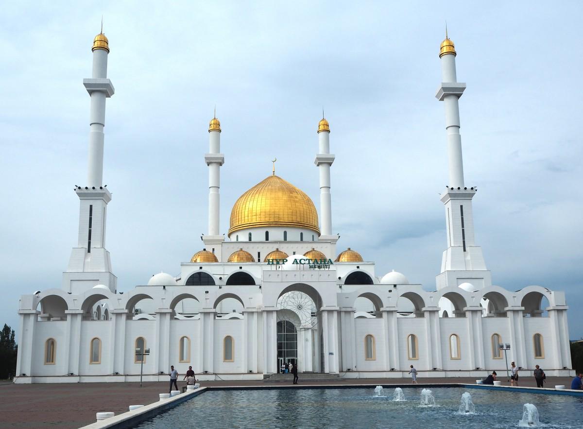 Zdjęcia: Astana, płn. Kazachstan, Meczet Nur-Astana , KAZACHSTAN
