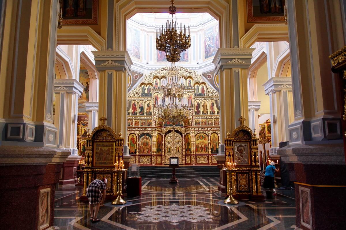 Zdjęcia: Ałma-Ata, Wnętrze Soboru Wniebowstąpienia Pańskiego, KAZACHSTAN