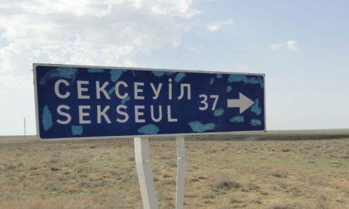 Zdjecie KAZACHSTAN / Miedzy Aralskiem a Dzalandasz / droga / A nazwa kusi.....