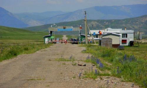 Zdjecie KAZACHSTAN / Kazachstan  / Kazachstan  / Granica  Kirgizja Kazachstan