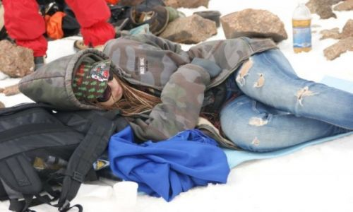 Zdjęcie KAZACHSTAN / Medeo / Medeo / Odpoczynek  na  mrozie