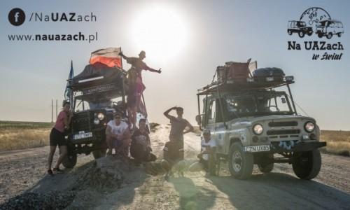 Zdjecie KAZACHSTAN / Uralsk / Droga do granicy z Rosją / Na UAZach