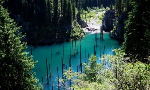 Zdjęcie KAZACHSTAN / płd.-wsch. Kazachstan / Park Narodowy Kolsay Lakes / Jezioro Kaindy
