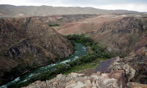 Zdjęcie KAZACHSTAN / płd.-wsch. Kazachstan /  kanion rzeki Szaryn / Kanion Szaryński