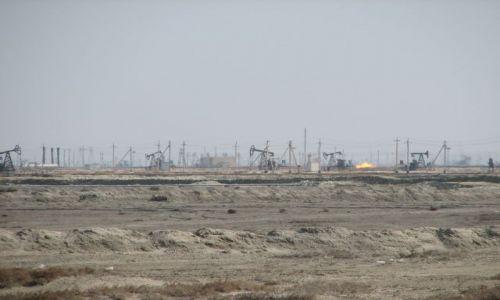 Zdjecie KAZACHSTAN / Morze Kaspijskie / Kalamkas / Pola naftowe KALAMKAS