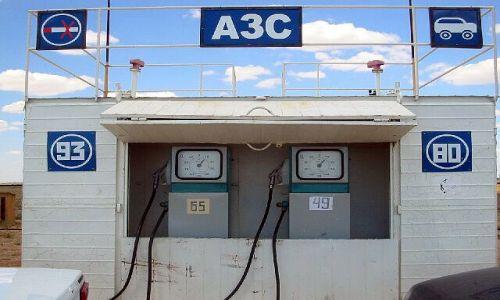KAZACHSTAN / brak / okolice Atyrau / Pierwsza stacja benzynowa w Kazachstanie