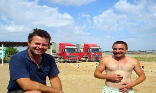 KAZACHSTAN / brak / Dossor / Polscy Kierowcy ktorzy poratowali nas atlasem drogowym