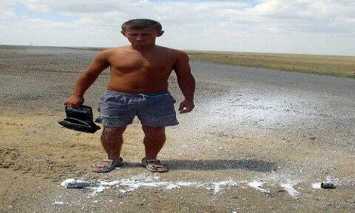 KAZACHSTAN / brak / Makat / Pianka do golenia nie wytrzymala goraca